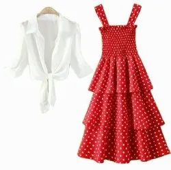 Red Women Party Wear Evening Gown