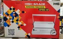 High Grade Spiro 40 spiral binding machine