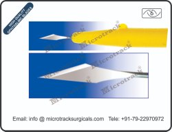 Sideport 30 Degree Ophthalmic Micro Surgical Blade