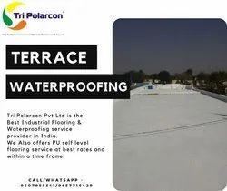 白色防水化学品,适用于露台表面