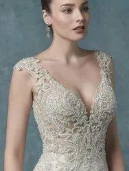 White Net Ball Gown Wedding Dresses