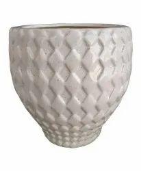 White Ceramic Desiner Mat Gamla 16 Inc, For Decoration, Size: 10inch