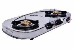 Sooryantram Stainless Steel 2 Burner Prime Ovel, For Kitchen, Model Name/Number: SY-2B-209