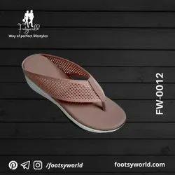 FW-0012 Women High Sole PU Slipper