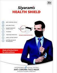 Cotton Reusable Face Mask, Certification: Health Guard, Number of Layers: 2