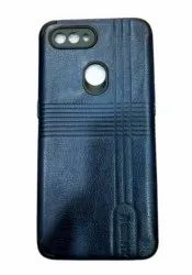 Blue Oppo A12 Leather Mobile Back Cover
