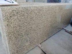 Polished Big Slab Premium Crystal Yellow Granite, For Flooring, Thickness: 15-20 mm