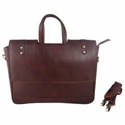 Brown Plain Ladies Office Messenger Bag