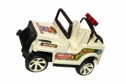 Manual White Plastic Jeep Toy, For Indoor Playing