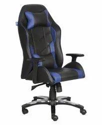 High Back Leatherette Gaming Any Time Chair Black & Dark Blue (VJ-2022)