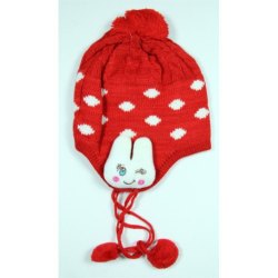 Red Kids Winter Skull Cap