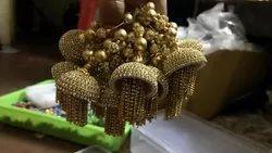 Silk Thread earring Jewellery set