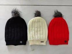 Cotton 6 color Men And Women Caps, Size: Free