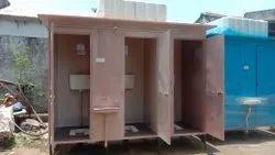 FRP Prefabricated Three Seater Toilet