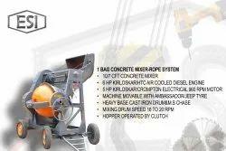 Clutch Type Concrete Mixer Machine