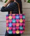 Multicolor Tusser  Silk Tote Bags