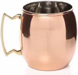 Pure Copper Tamba Mug Cup Moscow Mule for Drinking Water, Cold Drink, Beer