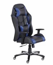 High Back Leatherette Gaming Any Time Chair Black & Blue (VJ-2003)