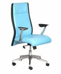 High Back Leatherette Office Chair Sky Blue (vj-2032)