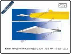Sideport 45 Degree Ophthalmic Micro Surgical Blade