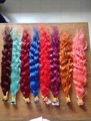 Indian Human Wavy Hair With All Colour For Women And Girl