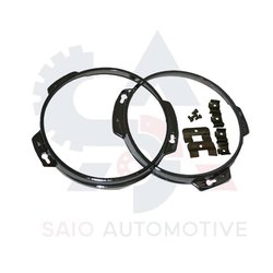 Headlight Head Lamp Chrome Bezel Ring Rim Set For Suzuki Samurai SJ410 SJ413 SJ419 Sierra Santana