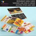 Table Menu card printing