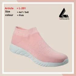L-201 Girls Pink Sports Shoes