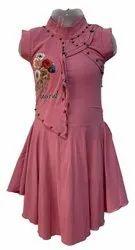 Cotton Girl Kids Pink Midi Dress