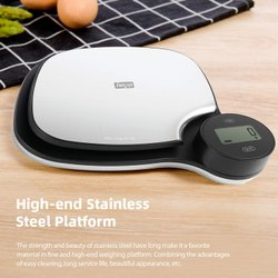 Kitchen Scale - Battery Free - Rotating Knob - Grey