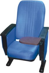 BLUE WRITING PAD AUDITORIUM CHAIR ARI-712