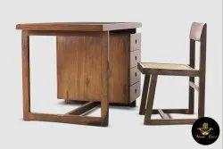 Masa Gaia Wood Pierre Jeanneret set of desk & chair set - PJ8783 for Home