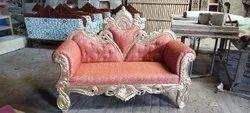 Modern Brown Designer Wooden Sofa Set, For Home, Bedroom