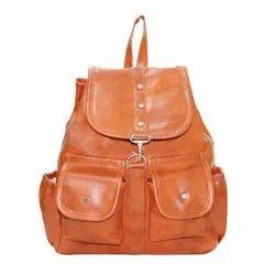Ladies Pu Leather Backpack
