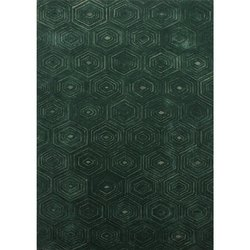 Hand Tufted Green Fall Wool Viscose Area Rug And Carpets