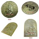 Golden Hammering Art - Jesus Christ - Repousse Work On Brass Sheet, For Worship Decoration, Size: 5 Inch And More