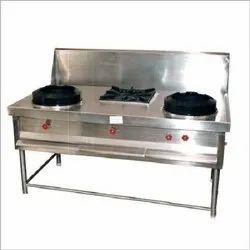 3 Burner Chinese Cooking Range