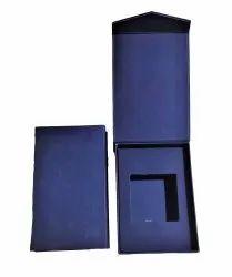 Blue Rectangular Velvet Jewellery Box