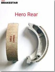 Two Wheeler 2 Pieces Hero Rear Brake Shoe, Packaging Type: Box
