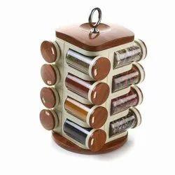 16 Piece Wooden Spice Rack