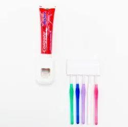 Abs White Plastic Toothbrush Holder, Number Of Holder: 1