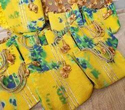 Multicolor Cotton Ladies Handbags, Size: 7*7 Inch