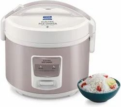 KENT - 16013 Electric Rice Cooker 3-Litres 350-Watt (White and Reddish Grey)