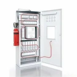 CLEAN AGENT Mild Steel ELECTRICAL CABINETS FIRE SUPPRESSION SYSTEM, For Commercial, Capacity: 5Kg