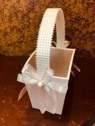 white Mdf exquisite gift basket, For Goodie Hamper, Capacity: 2 Bottles