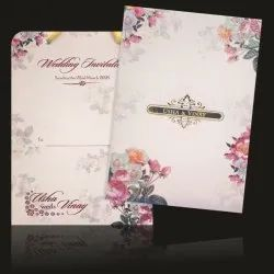 Floral Theme Digital Marriage Invitation Card Printing Services, in Mumbai, Size: 16.5 X 24.5 Cm