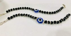 Black Stone Casual Wear Evil Eye Handmade Bracelet