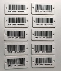 Aluminium Asset Barcode Label