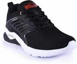 Men Black Campus Running Shoes, Size: 7