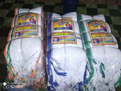Shantinath Stripped White Cotton Gamcha, 250-350 GSM, Size: 30x60 Inch